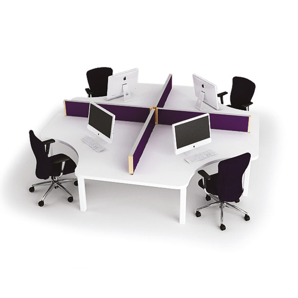 Office Table For 4 Person: NIN001 Four Person Team Desk Cluster